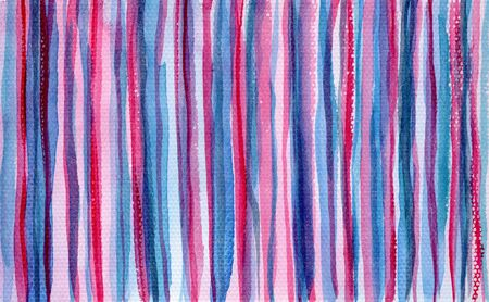Bright abstract textured blue, pink and purple striped watercolor background. Geometric horizontal watercolour texture concept illustration for banner, cover, wrapping paper, textile, surface design