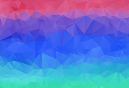 Bright sunset sky and water colors abstract polygonal background. Contrast colorful geometric vibrant low poly triangular texture for software, ui design, web, apps wallpaper, banner