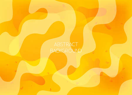 Abstract bright yellow and orange vibrant background with wavy shapes. Sunny vibrant wallpaper with dynamic gradient blobs for ui design, web, apps wallpaper, banner, social media template Vectores
