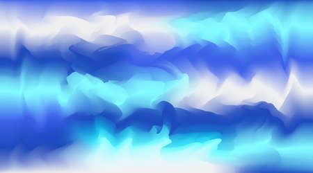 Bright vector watercolor light and dark blue colors blurred background. Beautiful abstract smooth wavy sky or water wallpaper for ui web design, travel concept decor, disco banner