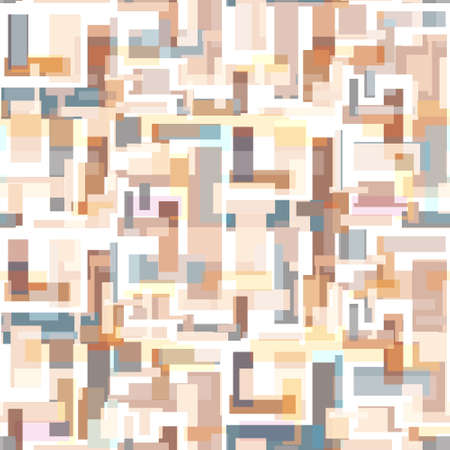 Tender neutral colors seamless pattern with abstract rectangles. Brown geometric texture for textile, wrapping paper, surface, wallpaper Stock fotó - 164719323