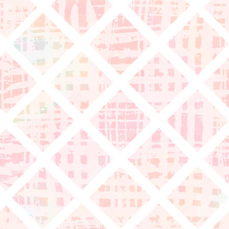 Tender textured pink seamless pattern with gradient rhomb. Abstract coral background for textile, wrapping paper, surface, wallpaper design