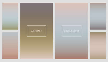 Set of pale colors gradients for smartphone screen backgrounds. Collection of neutral earth color soft vibrant wallpaper for mobile apps, ui design