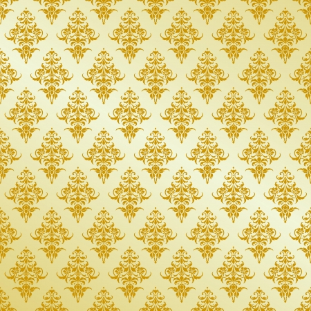 gold leafs: Vector pattern for design