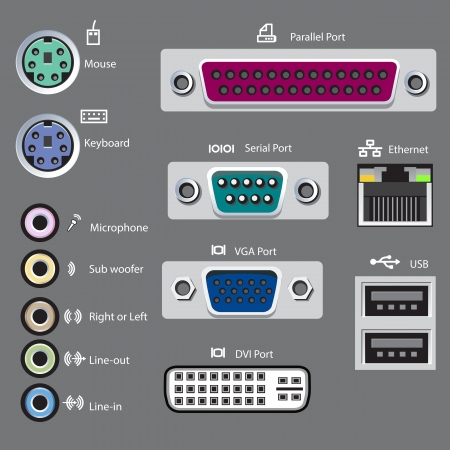 vga: computer ports type Illustration