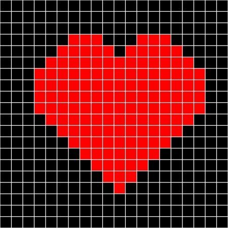 punto de cruz: punto de cruz coraz�n patr�n Vectores