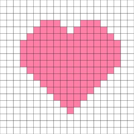 cross-stitch heart pattern