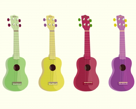 fretboard: ukulele-vector illustration