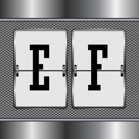 alphabet of mechanical E-F  Illustration