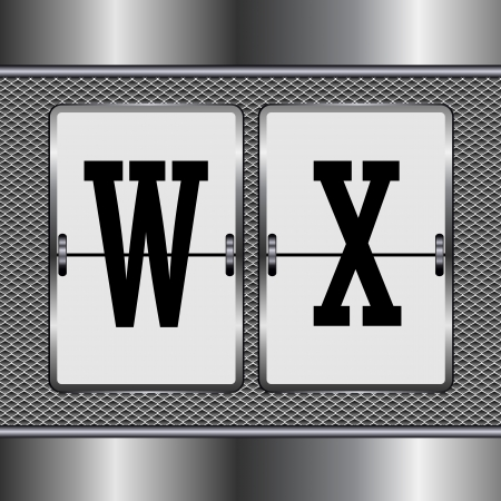alphabet of mechanical W-X  Vector