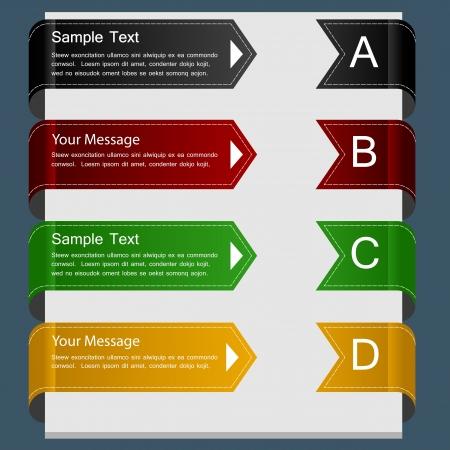 color ribbon design template