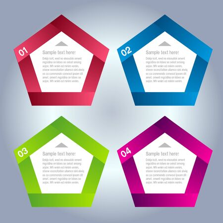 Modern Design template   can be used for infographics   numbered banners   horizontal cutout lines   graphic or website layout vector Horizontal Illustration