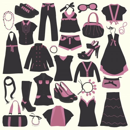 Elements of Clothing Store Icon vector  Illustration