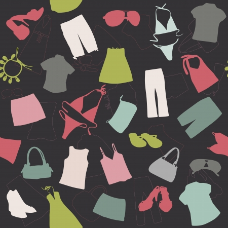 seamless background elements of clothing pattern vector