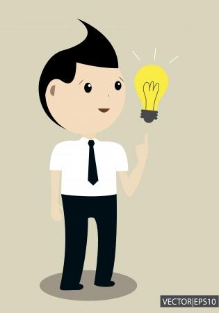 Businessman get the idea Stock Vector - 19605869