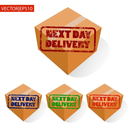 Next day delivery icon set  Vector