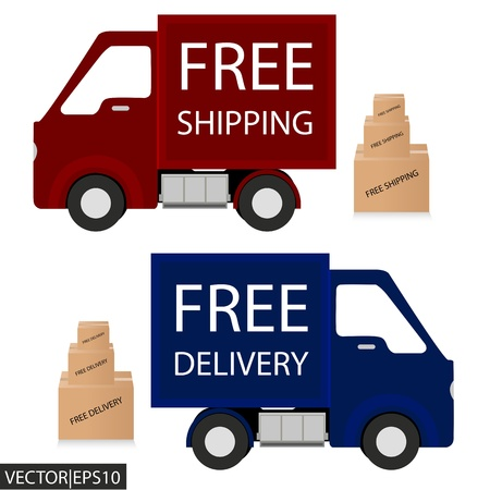 Free delivery, free shipping labels Vector