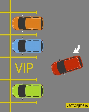 parked: VIP PARKING lot place for business success car