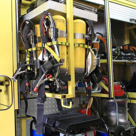 resuscitation department: Chemical Tanks, devices mounted and equipments on a fire truck, recovery vehicles in Thailand