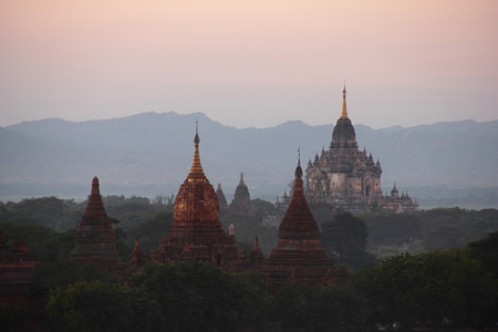 Bagan at sunset in Myanmar
