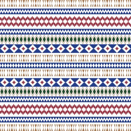Motifs ethniques sans couture. Arrière-plans géométriques aztèques. Texture de fond tribal. Papier peint abstrait moderne. Illustration vectorielle. - Vecteur