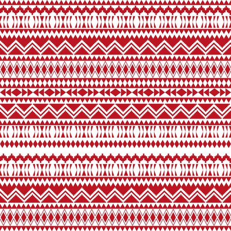 Christmas ethnic seamless patterns. Aztec geometric backgrounds. Stylish navajo fabric. Tribal background texture. Modern abstract wallpaper. Vector illustration.