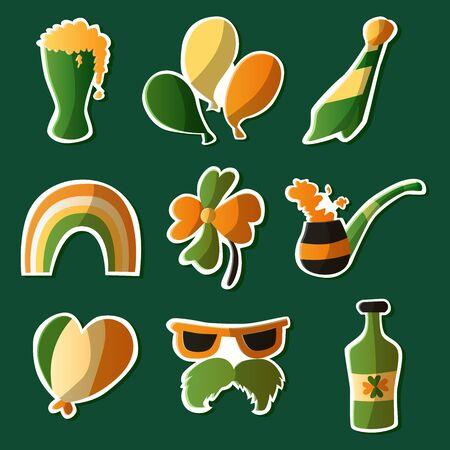 Saint Patrick s Day set. Vector Illustration Ilustração