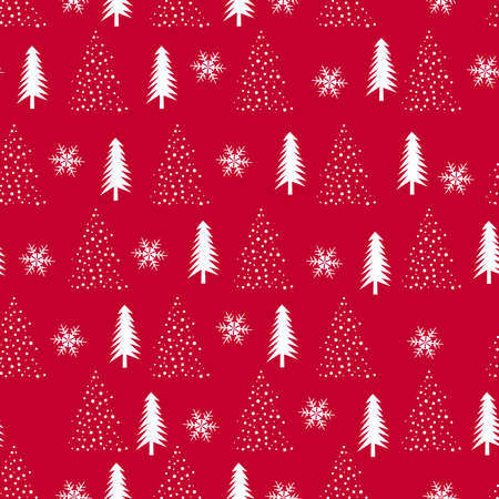 Christmas tree seamless pattern background, wrapping paper, pattern fills, winter greetings, web page background, Christmas and New Year greeting cards
