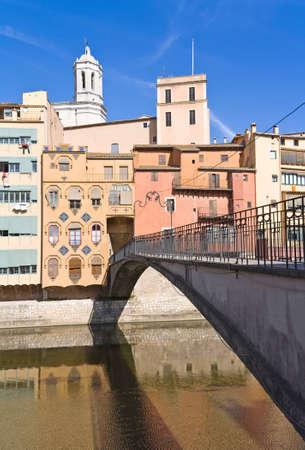 Bridge over Onyar river, Girona, Spain. Stock Photo - 10731834