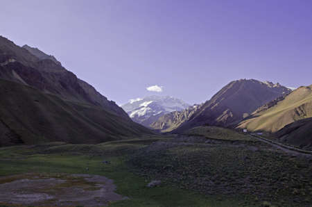 aconcagua: The route to the base camp of Aconcagua