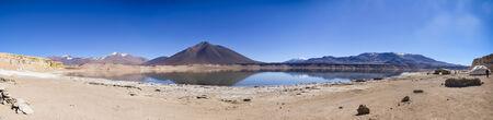 verdi: Salt Lake (laguna) Verdi near Mount Ojos del Salado. The height of about 4000 m.