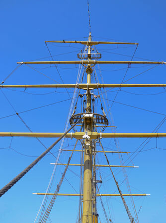 topsail: Mast of Tallship in Buenos Aires