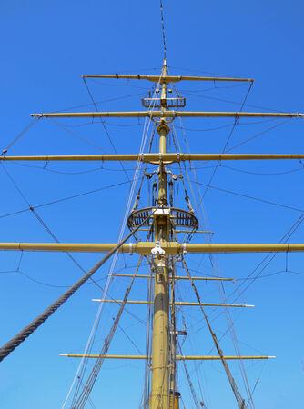 Mast of Tallship in Buenos Aires