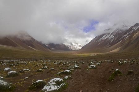 aconcagua: Route to summit of Aconcagua Stock Photo