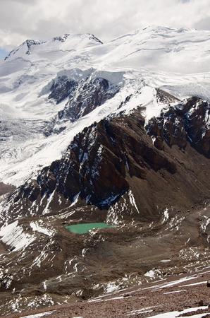 aconcagua: Mountain lake on the slopes of Mount Aconcagua