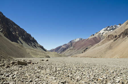 aconcagua: Route to top of Aconcagua
