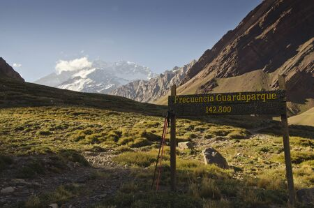 aconcagua: View of the Aconcagua from