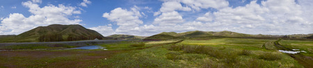 arousal: The Landscape of Spring Steppe and Hills