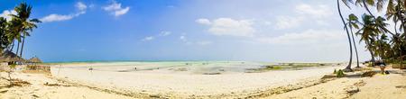 ebb: Panoramic of the Beach at the ebb on Zanzibar