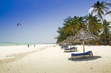 ebb: Coastline on Zanzibar at the ebb