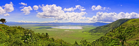 View from the height of the world famous reserve Ngoro ngoro where the remains of the very first person were found