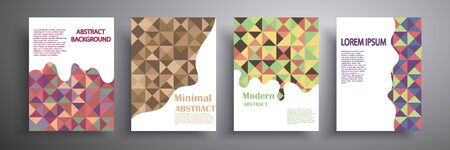 Abstract cover vector illustration. Future geometric design. Collection of templates for brochures, posters, covers, notebooks, magazines, banners, flyers and cards Illusztráció