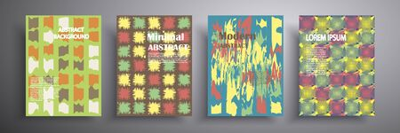 Abstract vector illustration. Colorful mosaic cover design. Future geometric design. Collection of templates for brochures, posters, banners, flyers and cards