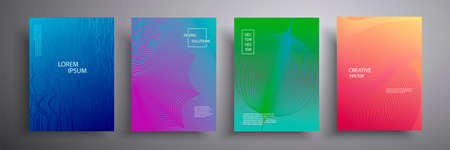 Abstract cover vector illustration. Future geometric design. Collection of templates for brochures, posters, covers, notebooks, magazines, banners, flyers and cards 向量圖像