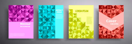Abstract vector illustration of covers with graphic geometric elements. Template for brochures, covers, notebooks, banners, magazines and flyers, modern website template design.