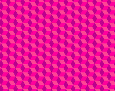 Abstract cube pattern, fully seamless. 3d pink vector geometric wallpaper, cube pattern background.Modern Graphic Design. Ilustração