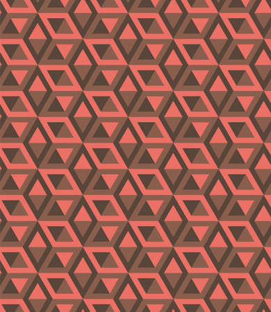 Abstract seamless pattern of geometric cubes. Modern stylish texture. Vector color background