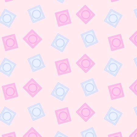 Ð¡ondom seamless pattern. Illustration