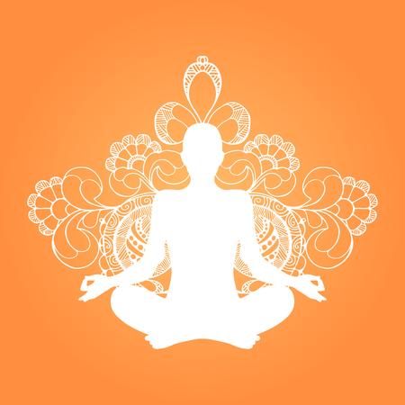 Yoga lotus position.