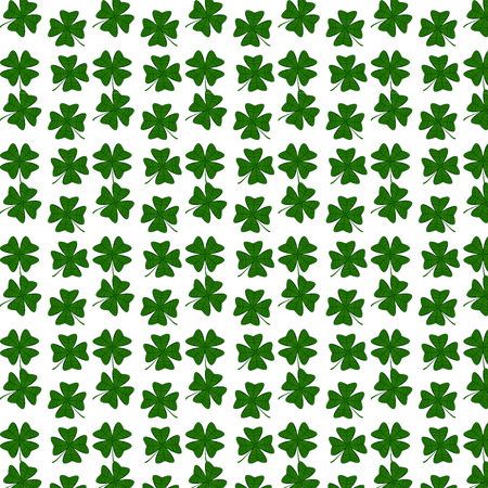 Clover pattern for Saint Patricks Day in seamless pattern illustration.  イラスト・ベクター素材